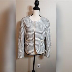 Kenar womens stripe business blazer jacket suit L
